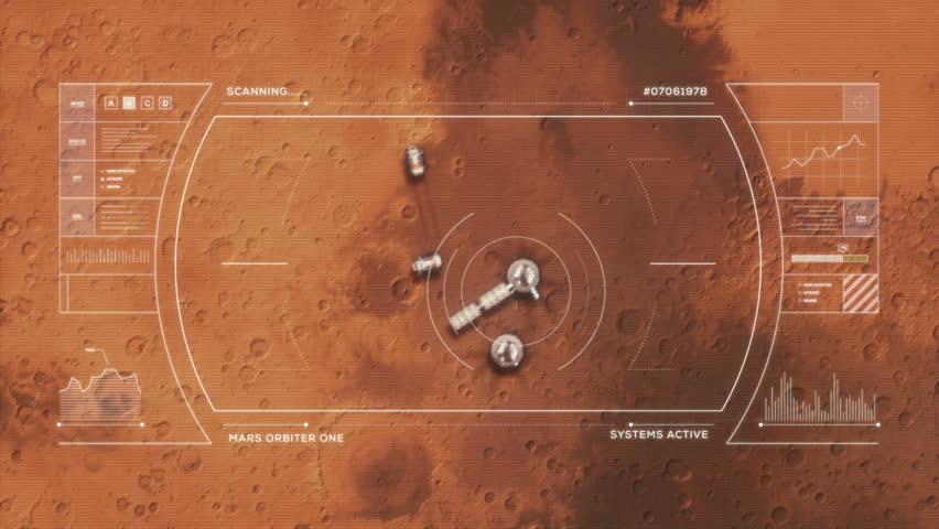 Mars Base from Orbit