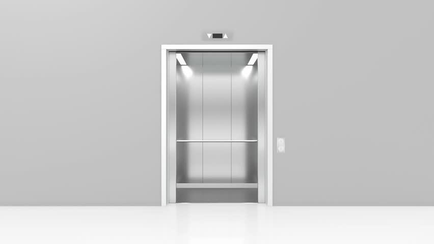 Opening doors in modern elevator. 3d animation | Shutterstock HD Video #16523971