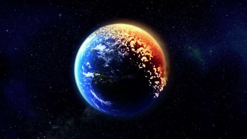 Earth Burns. Ecological concept. | Shutterstock HD Video #1656805