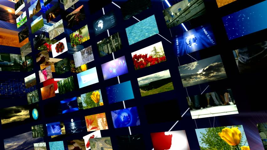 Multi screen videos for the news HD 1080 | Shutterstock HD Video #1659178