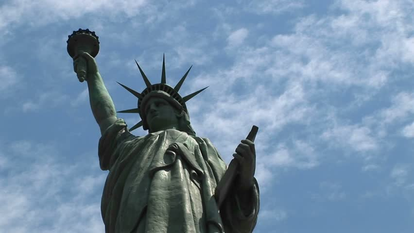 NEW YORK - CIRCA 2005: The camera pans-left across the Statue of Liberty in New York, NY circa 2005 | Shutterstock HD Video #1659343