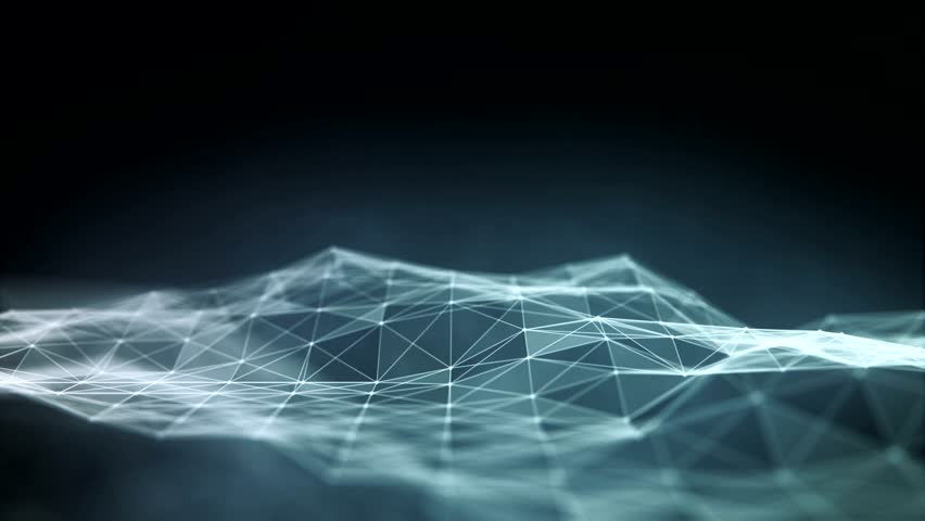 Abstract polygonal space low poly dark background with connecting dots and lines. Connection structure. Futuristic HUD background. Loop background.   Shutterstock HD Video #16595458