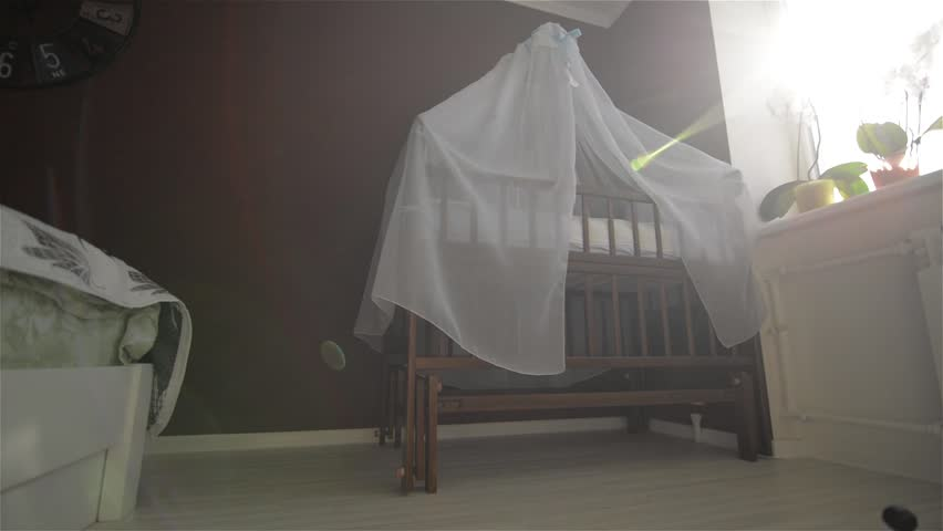 Training room for the newborn, cot