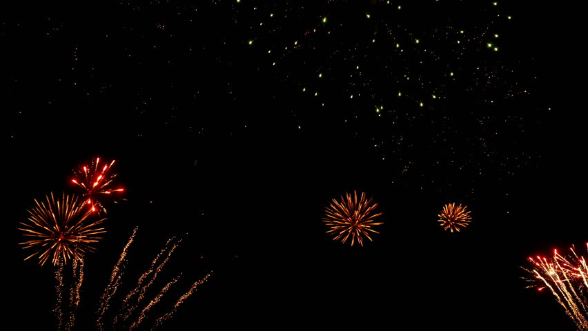 Colorful fireworks at holiday night. Holiday celebration. 4K UHD.   Shutterstock HD Video #16630486