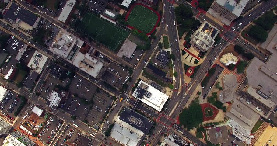 Newark New Jersey East Orange Aerial  | Shutterstock HD Video #16699195