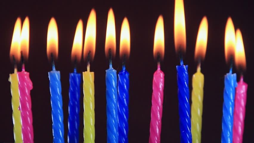 Birthday Candles Burning Blowing Out Stock Footage Video 100 Royalty Free 16701832 Shutterstock