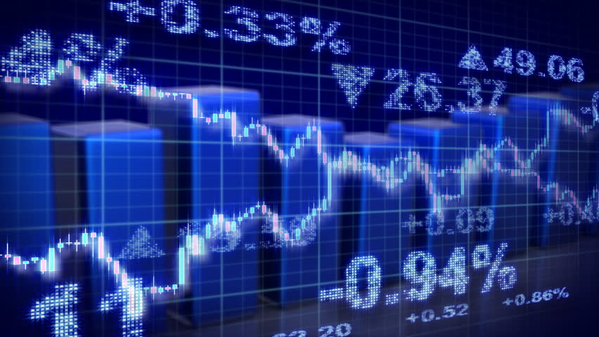 Stock market blue loopable business background | Shutterstock HD Video #1671967