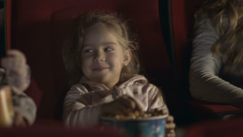 Friendly family with children watching a cartoon    Shutterstock HD Video #16747282