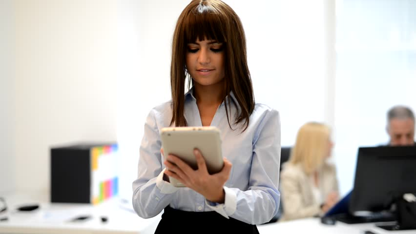 Woman using a tablet in an office #16764193