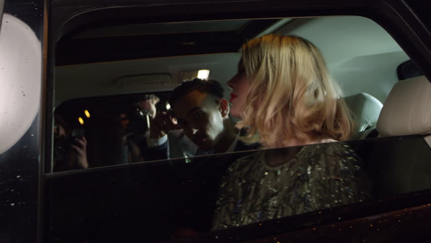 Celebrity couple arriving in limo, photographed by paparazzi, shot on R3D | Shutterstock Video #16793161