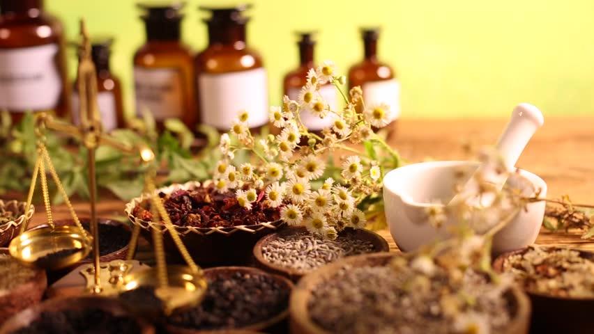 Alternative medicine, dried herbs  | Shutterstock HD Video #16796188