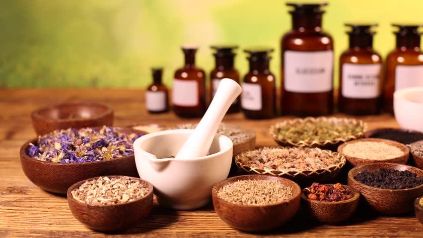 Alternative medicine, dried herbs    Shutterstock HD Video #16796518
