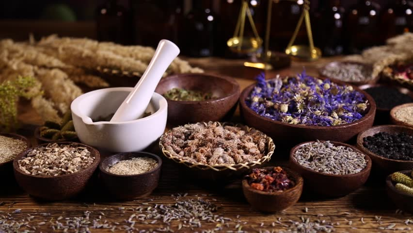 Assorted Natural Medical Herbs and Stock Footage Video (100% Royalty-free)  16796530   Shutterstock