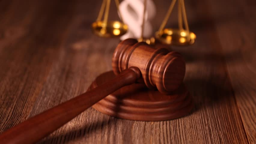 Court Gavel,law Theme, Mallet of Stock Footage Video (100% Royalty ...