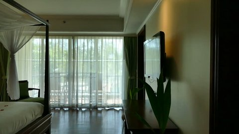 Decoration in hotel bedroom interior