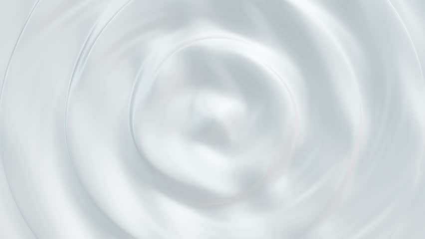 Animation of waves and ripples in white milk. Rippled surface of white liquid milk. Animation of ripple on surface of white paint. Animation of seamless loop.