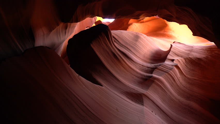 High quality 4K footage about the Antelope Canyon - Arizona