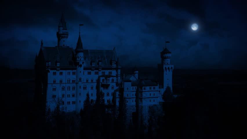 Castle On Mountainside At Night   Shutterstock HD Video #16864420