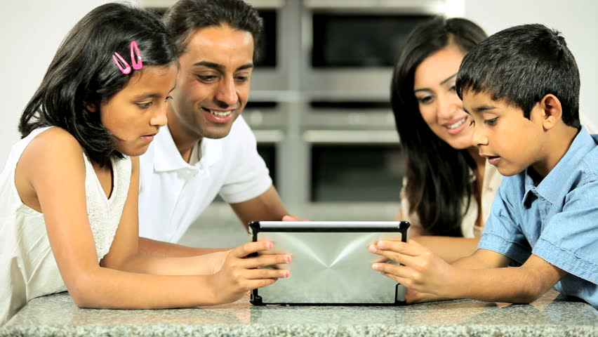 Young Asian Family Having Fun with  Wireless Tablet | Shutterstock HD Video #1688494