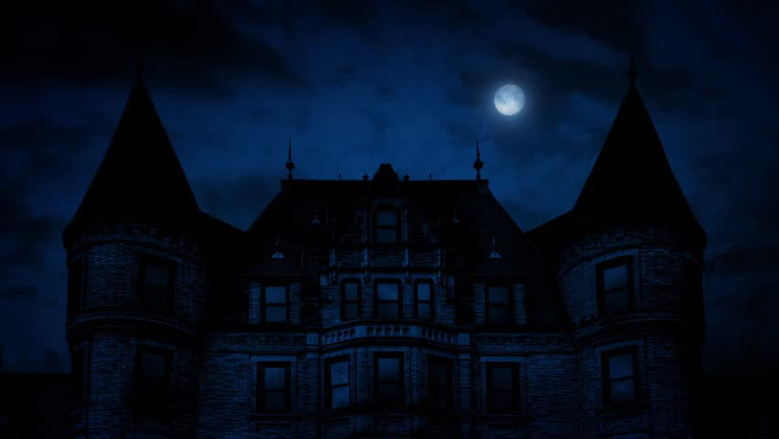 Gothic Mansion House At Night   Shutterstock HD Video #16890391