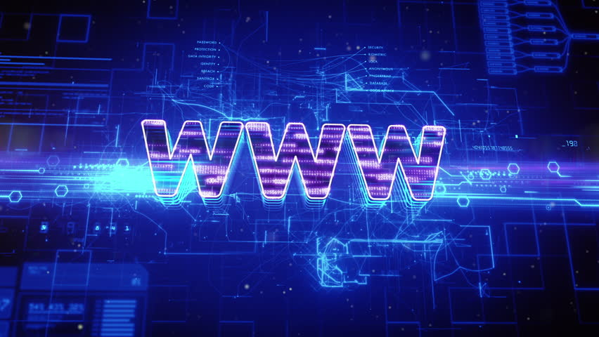 Abstract animation of world wide web (www) text in digital cyberspace #16917856