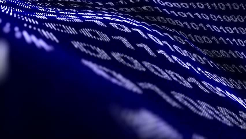 Binary Code Numbers Background, Loop, 4k  | Shutterstock HD Video #16933477
