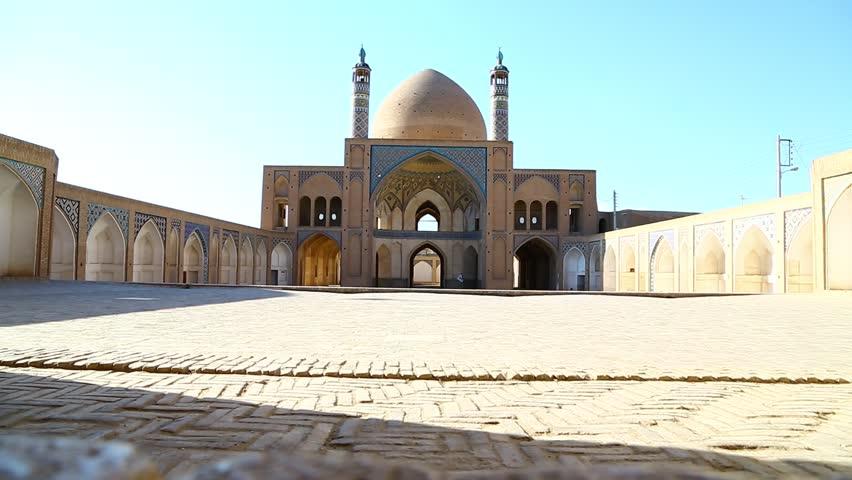 in iran  kashan  islamic mausoleum old   architecture mosque  minaret near the  sky