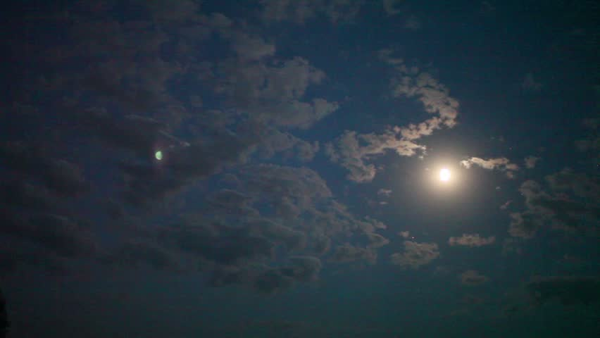 bright moon  in the night sky #16959760