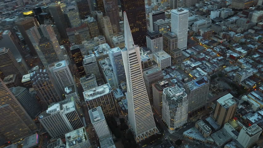 Transamerica Pyramid. Financial District, San Francisco. United sates. Aerial view. Shot from a helicopter. #16989181