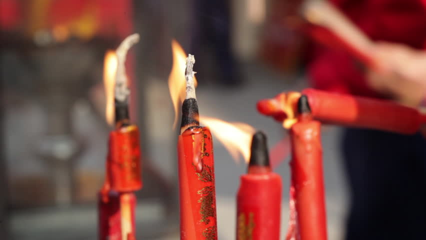 Detail of Red Lucky Candles Stock Footage Video (100% Royalty-free)  17003344 | Shutterstock