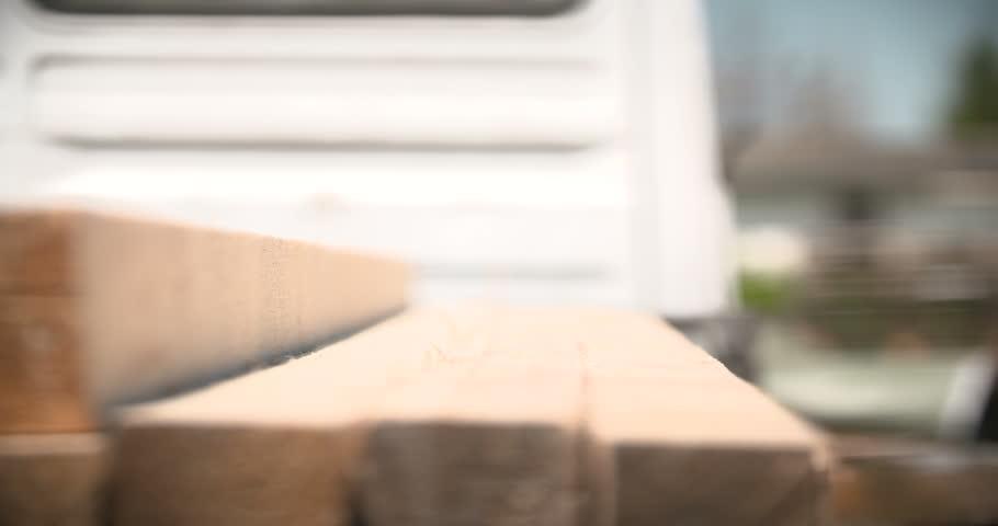Construction worker measuring board   Shutterstock HD Video #17029498