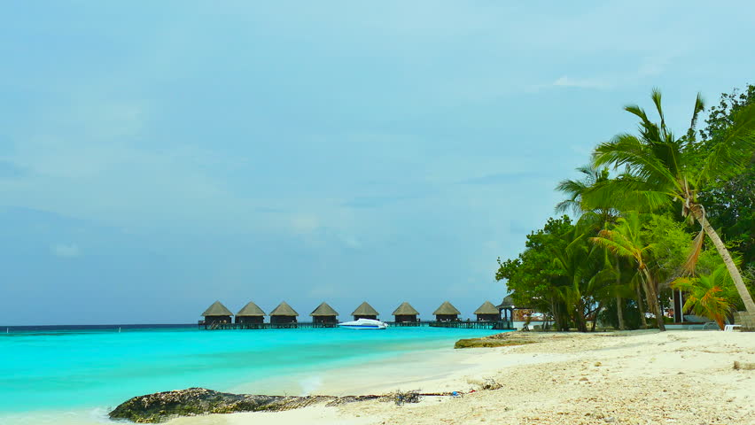 Beautiful tropical beach and sea in maldives island   Shutterstock HD Video #17096257