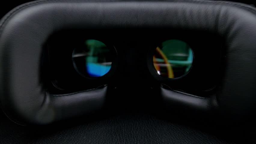 Male hand taking a virtual reality headset.  | Shutterstock HD Video #17097799