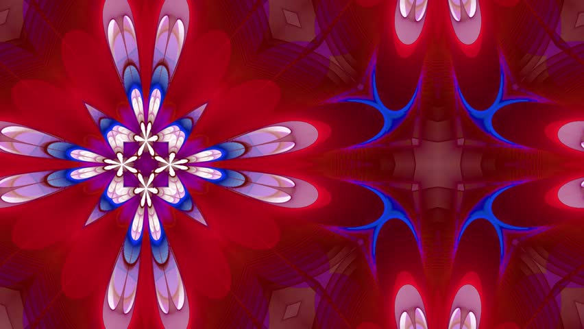 Abstract loop motion background, variegated kaleidoscope | Shutterstock HD Video #17100853
