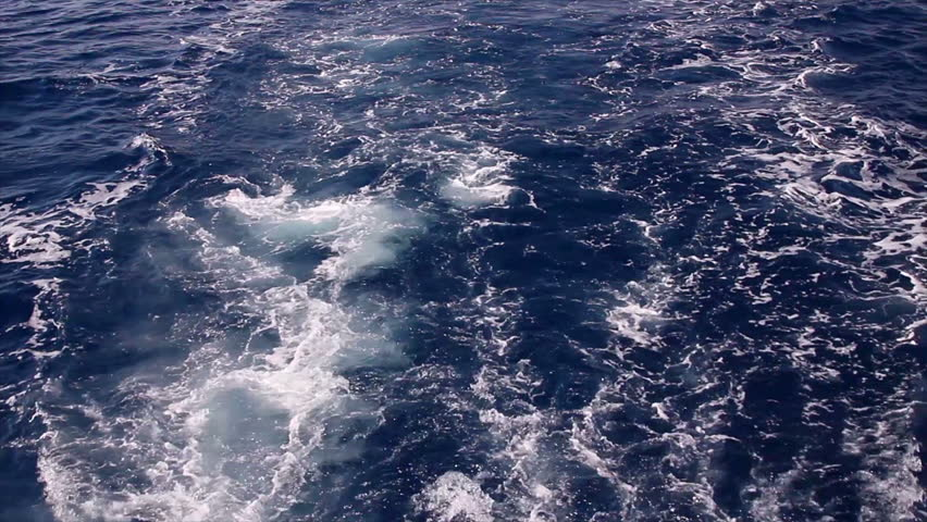 Prop wash from boat on the Red Sea.   Shutterstock HD Video #1713133