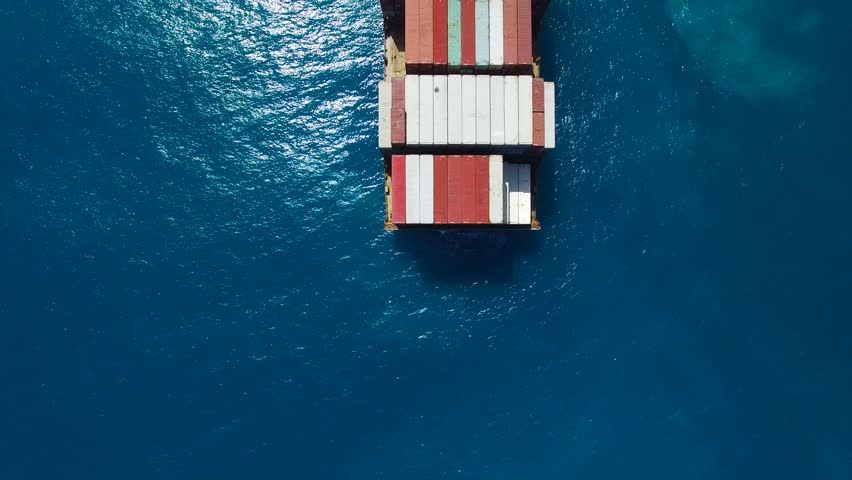 Large container ship at sea - Aerial footage | Shutterstock HD Video #17147902