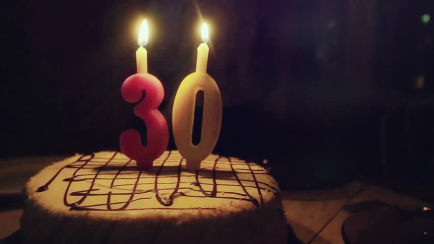 Fantastic 30Th Birthday Cake Stock Video Footage 4K And Hd Video Clips Funny Birthday Cards Online Elaedamsfinfo
