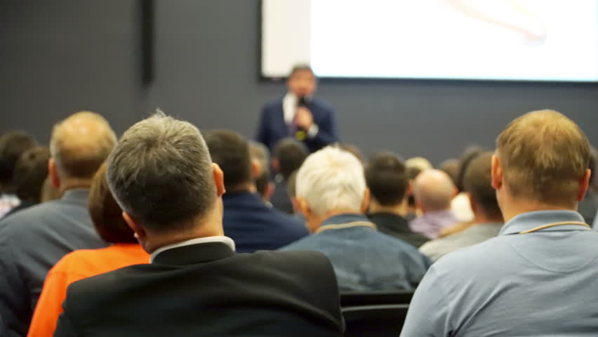 Public Audience listening Presentation 4K UHD. Business concept traning.   Shutterstock HD Video #17205679