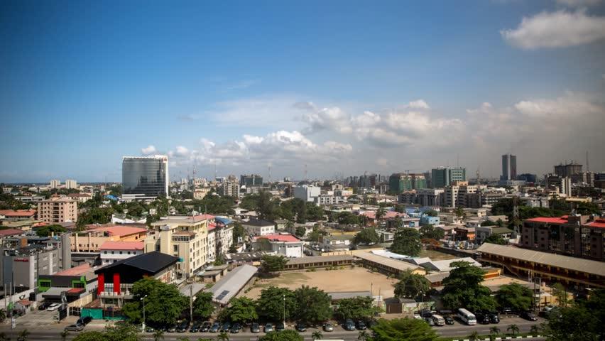 Lagos skyline on Victoria island in Nigeria