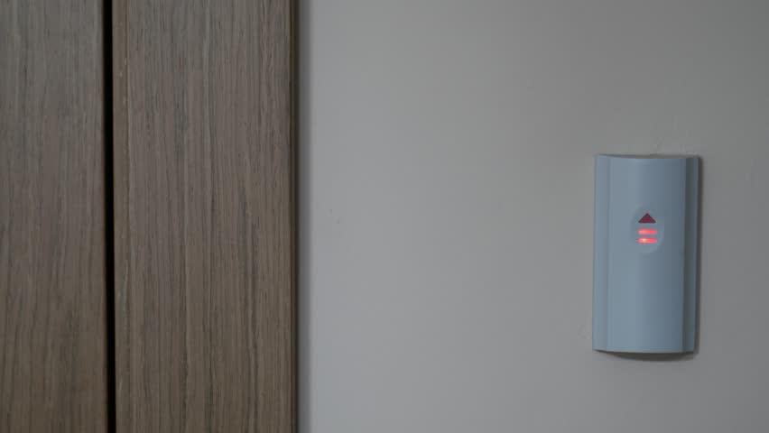 Male hand open security door with Finger scanner | Shutterstock HD Video #17230156