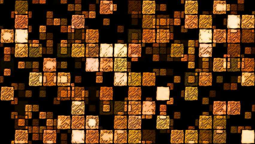 Abstract Sketchy Glowing Squares Background - Loop Orange   Shutterstock HD Video #17231080