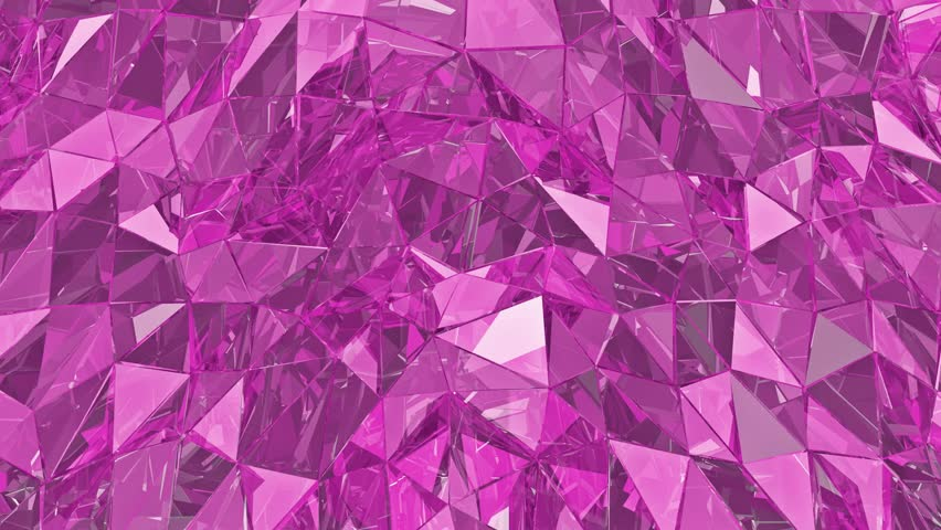 Abstract glass background. 3D render, polygonal surface. Pink glass,loop, loop background | Shutterstock HD Video #17240089