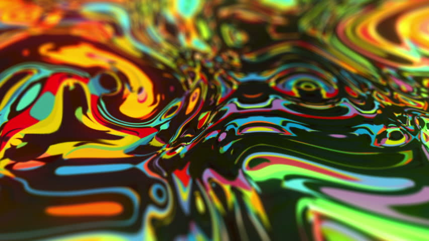 Psychedelic liquid painting animated seamless motion graphics visual for broadcast and science films, music videos, titles background, LED screens, pay trance festivals and events.