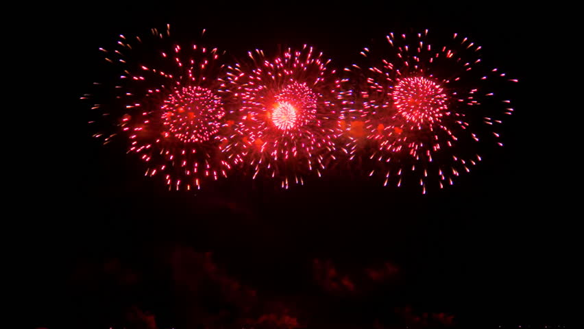 Colourful fireworks exploding high in the air. FullHD 1080p. | Shutterstock HD Video #17331688