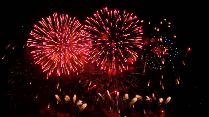 Colourful fireworks exploding high in the air. FullHD 1080p. | Shutterstock HD Video #17331721