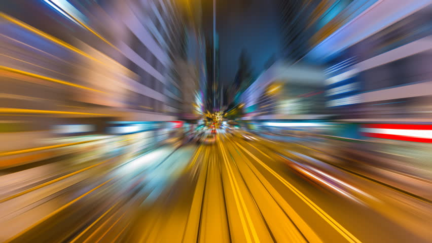 Time Lapse Tram Fast Speed Motion In City Of Hong Kong (forward, loop) Royalty-Free Stock Footage #17337643