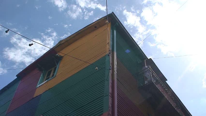 BUENOS AIRES, ARGENTINA - CIRCA 2009: Colorful houses, La boca neighborhood, Buenos Aires, Buenos Aires, South America, Argentina, Capital, City, Metropolis, circa 2009 in Buenos Aires, Argentina.   Shutterstock HD Video #1734082