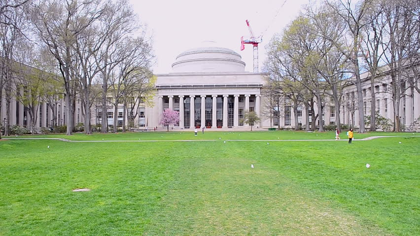 BOSTON, MA - APR 25: The Massachusetts Institute of Technology (MIT) campus on April 25, 2016 in Cambridge, Boston, USA. The MIT is a private research university in Cambridge, MA, founded in 1861. Royalty-Free Stock Footage #17356852
