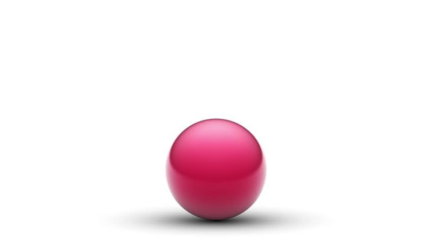 Jumping ball. Looping. Alpha channel. | Shutterstock HD Video #17367076