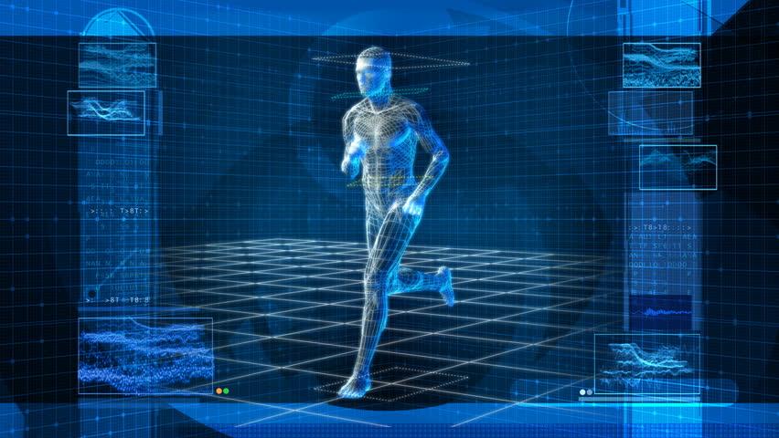 Bionic 3D Man Running HD Loop